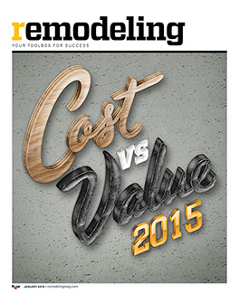 Cost vs Value 2015
