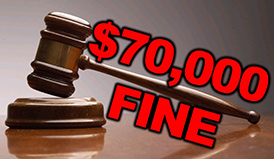 Door Dealer Fined $70,000