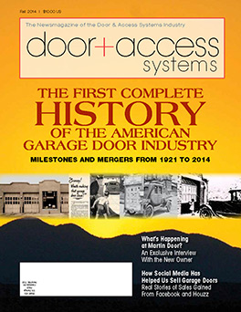 The First Complete History of the American Garage Door Industry